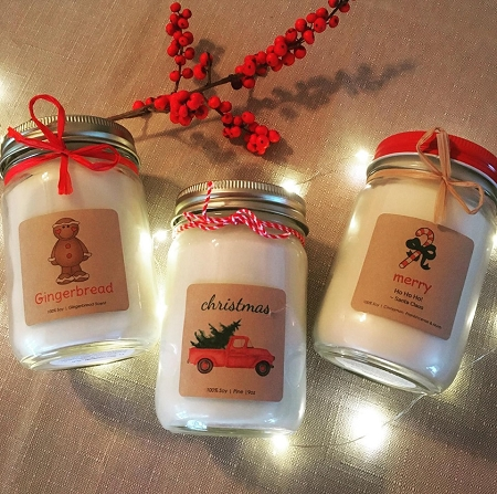 Soy Holiday Jars