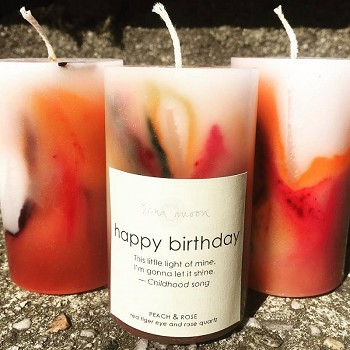 Happy Birthday Candles By Zena Moon